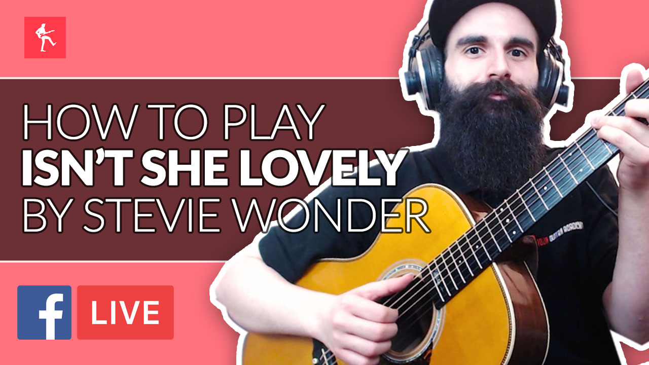 How To Play Isnt She Lovely By Stevie Wonder Acoustic Guitar Lesson