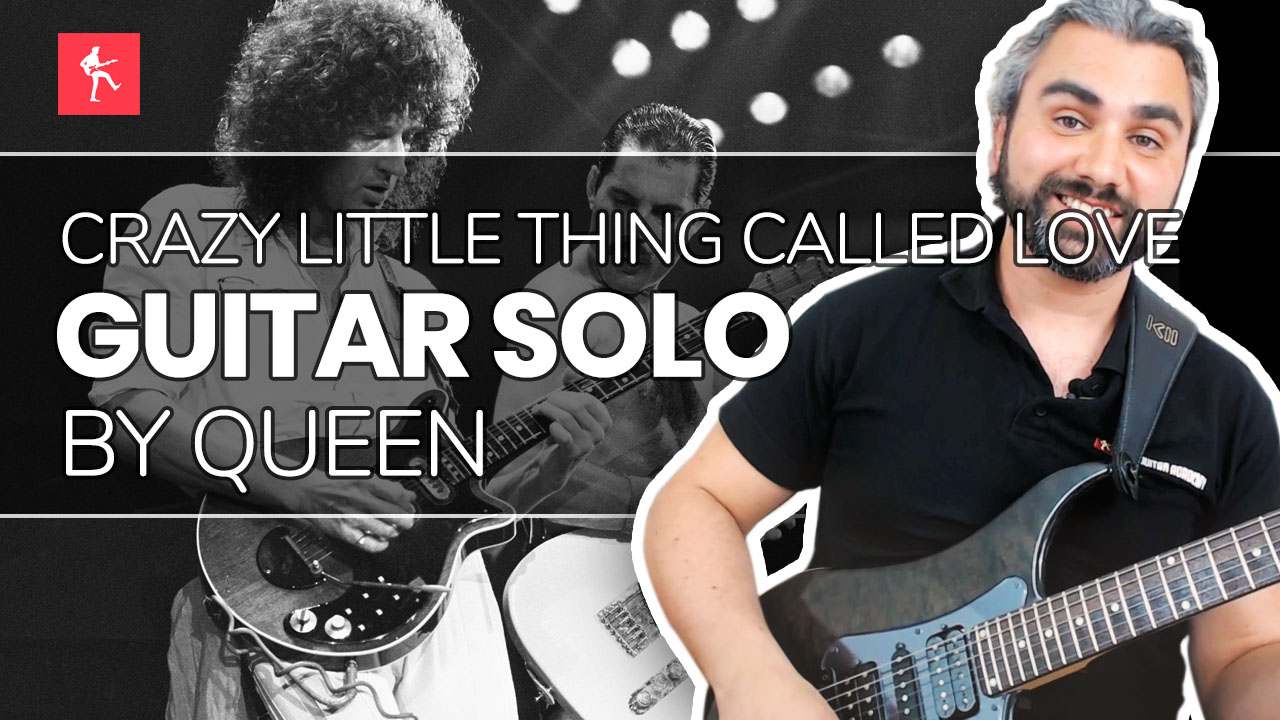 Crazy Little Thing Called Love Solo Guitar Lesson How To Play