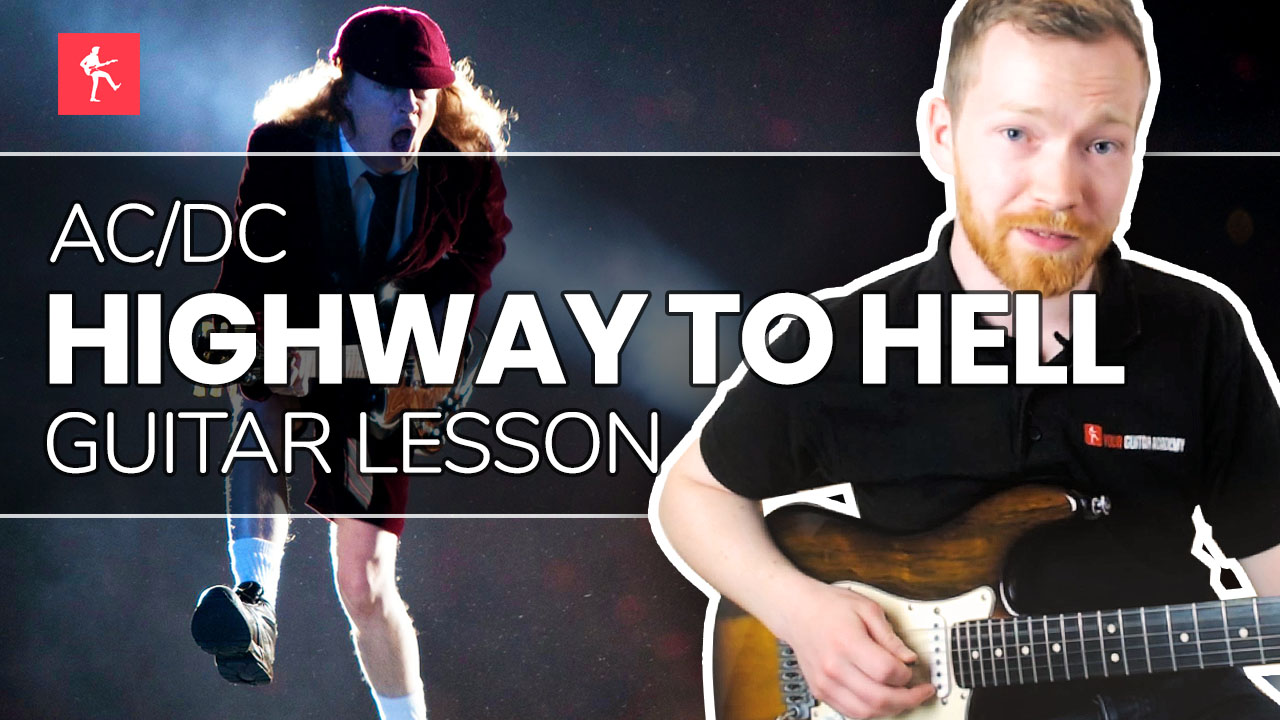 highway to hell guitar lesson how to play highway to hell by acdc. Black Bedroom Furniture Sets. Home Design Ideas